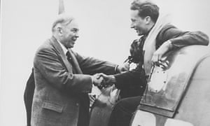 Bill Ash returning from a 1941 dogfight with the then prime minister of Canada, Mackenzie King