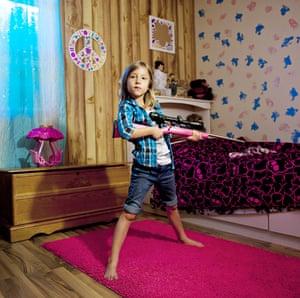 Hayley, aged 6, from Louisiana. My Little Rifle by An-Sofie Kesteleyn