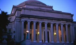The Library of Columbia University at dusk