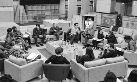 JJ Abrams conducts a cast reading for Star Wars: Episode VII.