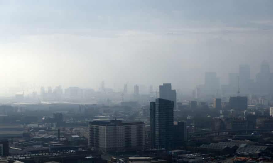 London blanketed in smog earlier this week.