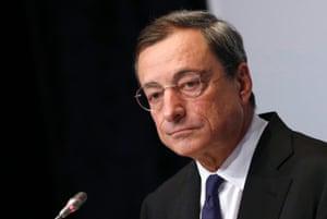 President of the European Central Bank (ECB) Mario Draghi.