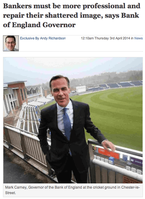Mark Carney at The Northern Echo
