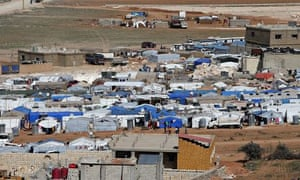 Syrian refugees in Arsal in Lebanon