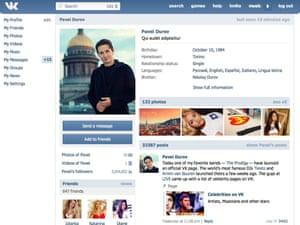 vKontakte is Russia's equivalent of Facebook.