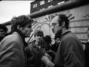 Keith Haring with Thierry Noir, 23 October 1986