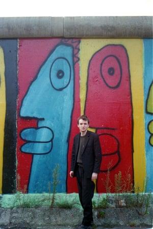 Portrait of Thierry Noir by Gabi Noir, 1986, on Bethaniendamm in Berlin-Kreuzberg