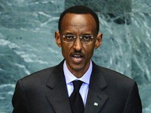 Rwanda's President Paul Kagame at the United Nations headquarters in New York, September 24, 2010.