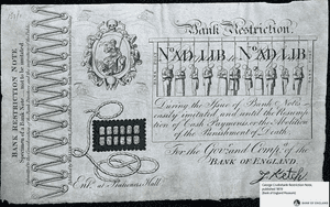 Bank of England restricted note