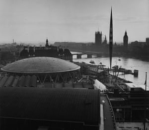The Royal Festival Hall, South Bank, during the Festival of Britain.