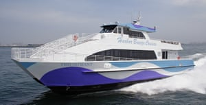 Google's private commuter ferry, the Triumphant, transports workers between San Francisco and the company's Silicon Valley campus.