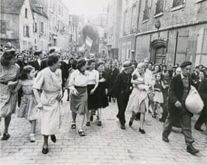 """""""Collaborationist is Scorned by Her People, Chartres, France"""", August 18, 1944."""