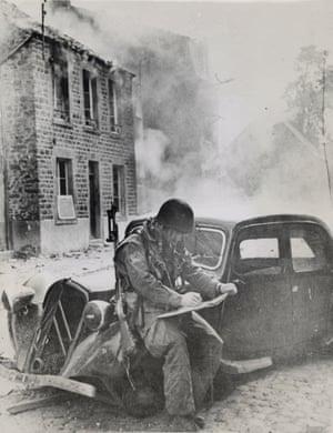 "Doesn't Mind the Heat, Somewhere in France (Saint-Sauveur-Le-Vicomte)"", June 16, 1944."