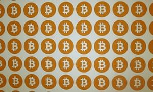 A close-up of 200 Bitcoins.
