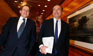 European Central Bank (ECB) President Mario Draghi (R) and Vice President Vitor Constancio arrive for the monthly ECB news conference in Frankfurt April 3, 2014.