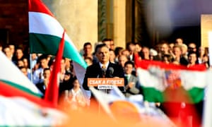 Hungarian prime minister Viktor Orbán delivers a speech
