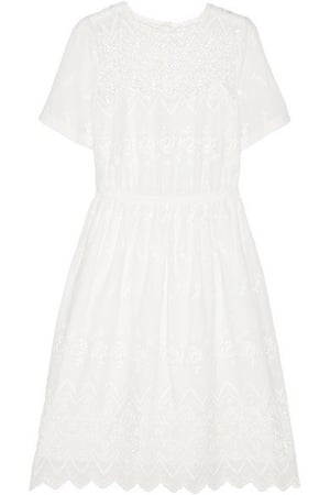 Wedding dresses :  J.Crew Victorian Abbey embroidered cotton dress
