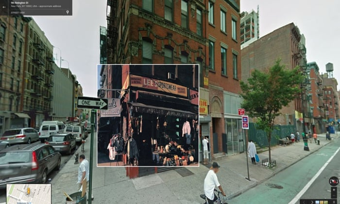 Album covers in Street View