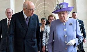 Queen and Giorgio Napolitano