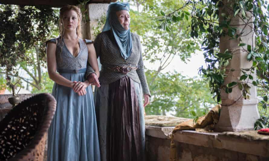 """Margaery Tyrell Natalie Dormer, left, and Diana Rigg Olenna in a scene from """"Game of Thrones."""