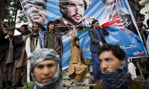Supporters of Afghan presidential candidate Abdullah Abdullah