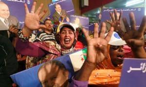 Abdelaziz Bouteflika supporters