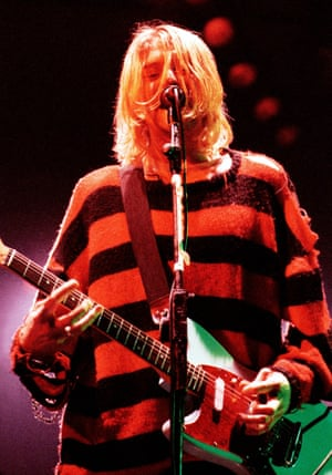 Kurt Cobain of Nirvana, in concert 25/10/1993.