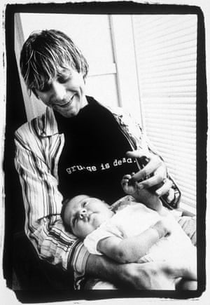 Kurt Cobain with his daughter Frances Bean  Nirvana - 1993.