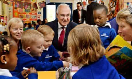 Sir Michael Wilshaw at a nursery