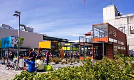 The Restart shopping mall in Christchurch, New Zealand