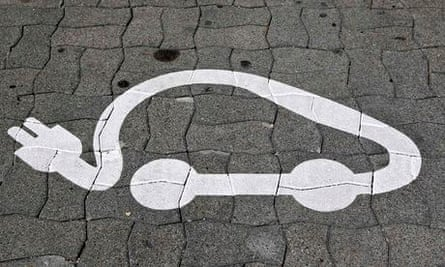 Pictogram of an electric car
