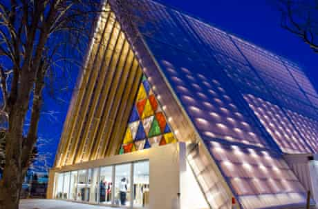 Christchurch's temporary Cardboard Cathedral