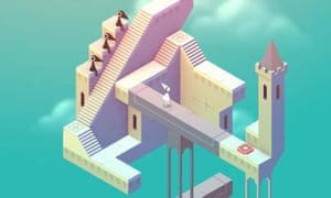Monument Valley's pixel-perfect graphics suit its puzzling action.