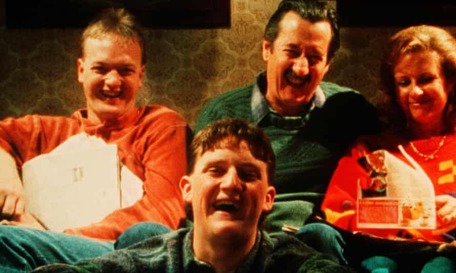 Anthony Simcoe, Stephen Curry, Michael Caton and Anne Tenney in The Castle.
