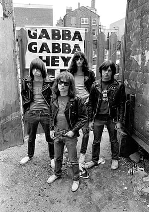 The Ramones: Outside the demolished Cavern Club in 1977