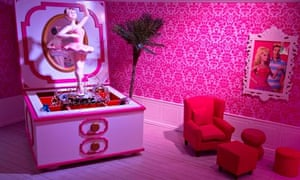 Huge jewellery box in sitting room of life-size Barbie Dreamhouse