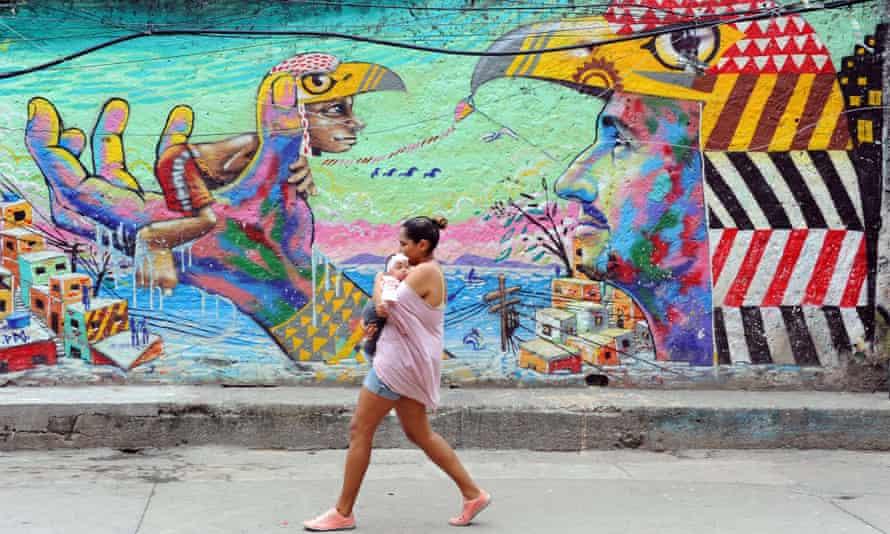 Life in the Cantagalo favela, near Copacabana.