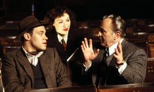 Bob Hoskins with Will Young and Doraly Rosen in Mrs Henderson Presents, 2005.