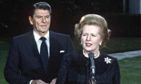 Ronald Reagan and Margaret Thatcher in 1982
