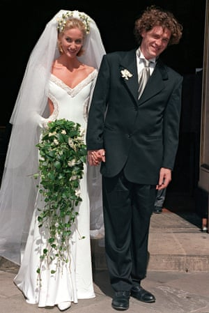 Lisa Butcher with Marco Pierre White, and the wedding dress they disagreed on