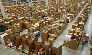 The Amazon warehouse in Swansea