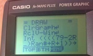 Basic on a calculator