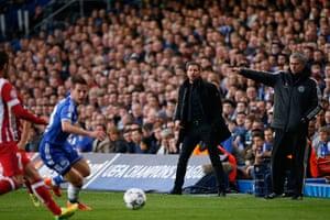 Tom's Chelsea pics: Chelsea's Jose Mourinho, right, and Atlético's Diego Simeone