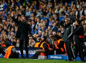 Tom's Chelsea pics: Atletico boss Deigo Simeone and a dejected Jose Mourinho