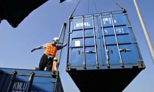 South Korean container ship