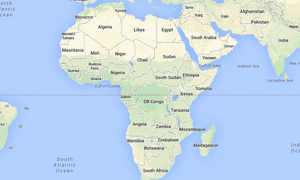 africa map google images