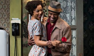 Sophie Okonedo and Denzel Washington in A Raisin in the Sun on Broadway