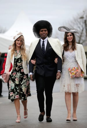 Racegoers enjoy the atmosphere of Ladies Day and dress to impress.