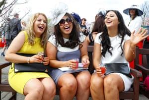 Racegoers enjoying Ladies Day