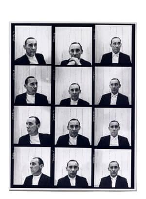 John Deakin, contact sheet of self-portraits, 1952. (Vogue).